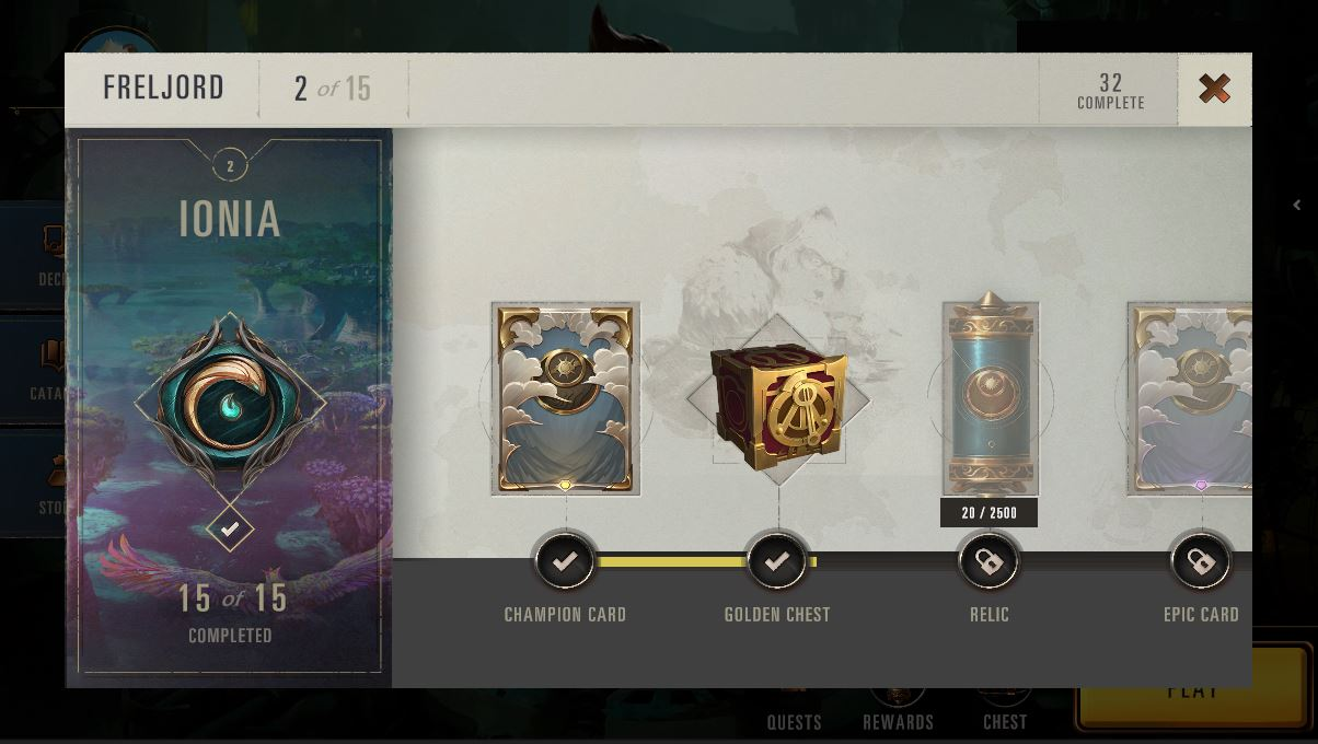 Pictured: Early iteration of the Rewards screen, this time after an artist has fixed things up.
